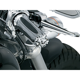 Kuryakyn Emblems For Grips Without Throttle Boss - Zombie - 1991 Yamaha VMAX 1200 - VMX12 Kuryakyn Footpeg Adapters - Front
