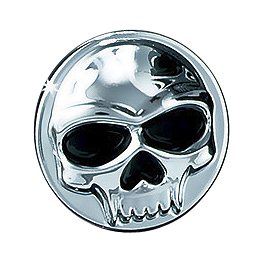 Kuryakyn Replacement Emblem For Zombie Windshield Trim - 2010 Triumph Rocket 3 Kuryakyn Footpeg Adapters - Front