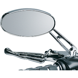 Kuryakyn Replacement Glass For Ellipse Mirrors - Drag Specialties Drag-Ness Round Mirror With Stealth I Stem
