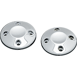 Kuryakyn ISO End Caps - Pair - Biker's Choice Slotted Electric Horn