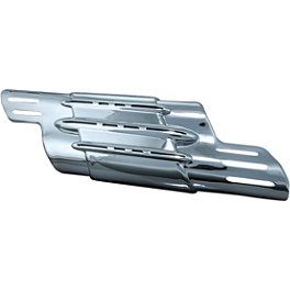 Kuryakyn Power Cell Exhaust Cover - Chrome - Kuryakyn Toe Shift Peg Cover - Round