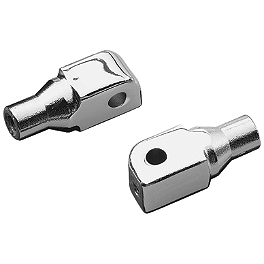 Kuryakyn Footpeg Adapters - Front - 2007 Yamaha V Star 650 Classic - XVS65A Kuryakyn Mechanical Cruise Assist - Clutch Bar End Weight