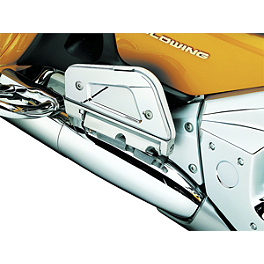 Kuryakyn Passenger Floorboard Covers - 2003 Honda Gold Wing 1800 - GL1800 Show Chrome Driver Peg Mounting Bracket