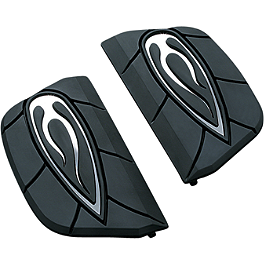 Kuryakyn Passenger Floorboard Inserts - Flame - Baron Custom Accessories Passenger Floorboard Comfort Kit - Adjustable