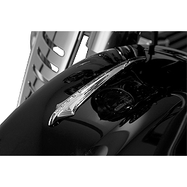Kuryakyn Front Fender Spear - Show Chrome Driveshaft Cover - Teardrop