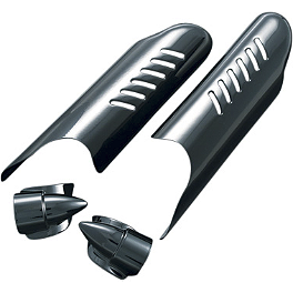 Kuryakyn Lower Fork Deflector Shields - Black - 2005 Harley Davidson Road King - FLHRI Kuryakyn Lower Fork Leg Covers