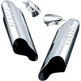 Kuryakyn Lower Fork Deflector Shields - Chrome - 2005 Harley Davidson Road King - FLHRI Kuryakyn Lower Fork Leg Covers