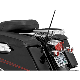 Kuryakyn Dual Function Flexible Antenna - Kuryakyn Transformer Backrest With Fold Down Luggage Rack