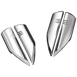 Kuryakyn Fork Protector Covers - Chrome - 2008 Yamaha Raider 1900 - XV19C Cobra Front Floorboards Swept - Chrome