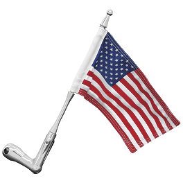 "Kuryakyn Flag, Pole & Holder For 3/4"" Tubing - Show Chrome French Flag - 5-1/2"