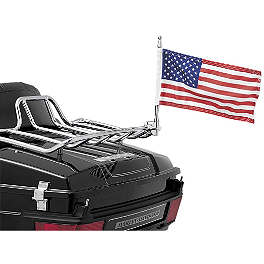 "Kuryakyn Flag Pole & Holder With Flag For 1/2"" Tubing - 2006 Triumph Rocket 3 Roadster Kuryakyn Footpeg Adapters - Front"