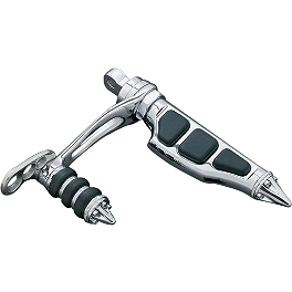 Kuryakyn Footpegs With Male Mounts - Stiletto With Stirrups - Kuryakyn Turndown Exhaust Extensions