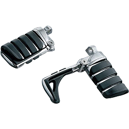 Kuryakyn Footpegs With Male Mounts - Switchblade - 2013 Harley Davidson Electra Glide Classic - FLHTC Kuryakyn Plug-In Driver Backrest