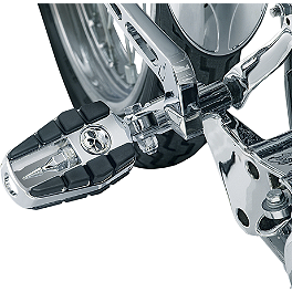 Kuryakyn Footpegs With Male Mounts - Zombie - 2002 Yamaha V Star 1100 Custom - XVS1100 Kuryakyn Footpeg Adapters - Front
