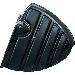 Kuryakyn Footpegs Without Adapters - ISO Wing Black - 2010 Triumph Rocket 3 Touring Kuryakyn Footpeg Adapters - Front