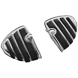 Kuryakyn Footpegs Without Adapters - ISO Wing - 2006 Harley Davidson Road King - FLHRI Kuryakyn Plug-In Driver Backrest