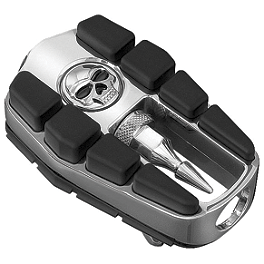 Kuryakyn Footpegs Without Adapters - Zombie - Arlen Ness Teardrop Rad II Mirror - Black Right
