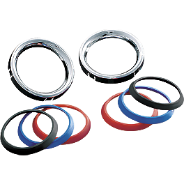 Kuryakyn Deluxe Gauge Bezels With Colored Accents - Small - Kuryakyn Bezels For 2