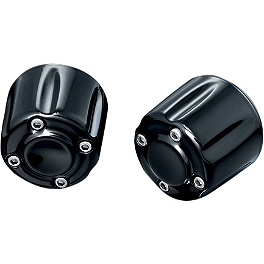 Kuryakyn Grip End Weights - Black - 2008 Yamaha V Star 650 Midnight Custom - XVS65M Kuryakyn Footpeg Adapters - Front