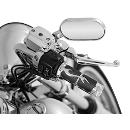 Kuryakyn ISO Flame Grips - 2010 Yamaha Road Star 1700 S - XV17AS Cobra Headlight Visor - 7 1/2