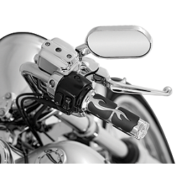 Kuryakyn ISO Flame Grips - 2005 Honda Shadow Spirit 1100 - VT1100C Cobra Headlight Visor - 7 1/2