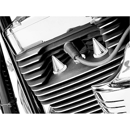 Kuryakyn Head Bolt Covers - Stiletto - 2012 Kawasaki Vulcan 900 Custom - VN900C Kuryakyn Footpeg Adapters - Front