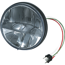"Kuryakyn Phase 7 LED Headlamp - 7"" - 2001 Honda Shadow Spirit 750 - VT750DC Kuryakyn Footpeg Adapters - Front"