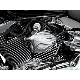 Kuryakyn Horn Cover - Flame - 2005 Honda VTX1800S2 Kuryakyn Mechanical Cruise Assist - Throttle