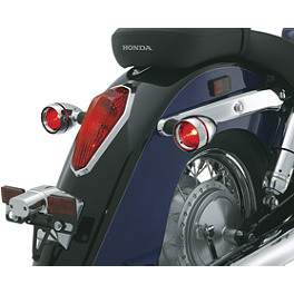 Kuryakyn Deep Dish Bezels With Lenses For Stock Turn Signals - 2003 Honda Shadow Sabre 1100 - VT1100C2 Kuryakyn Footpeg Adapters - Front