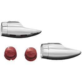 Kuryakyn LED Mini Bullets - 1998 Yamaha V Star 650 Classic - XVS650A Kuryakyn Replacement Turn Signal Lenses - Clear