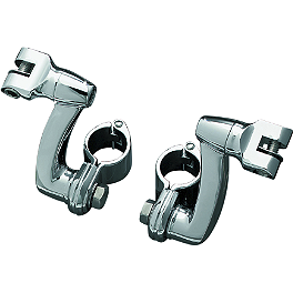 Kuryakyn Longhorn Offset Peg Mounts With Quick Clamp - 2000 Harley Davidson Electra Glide Standard - FLHT Kuryakyn Plug-In Driver Backrest