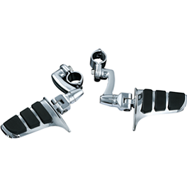 Kuryakyn Longhorn Offset Sweptwing Highway Peg With Quick Clamp - Kuryakyn Sixgun Exhaust Tips