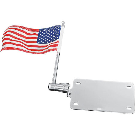 Kuryakyn License Plate Mounted Flag - Main