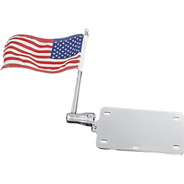 Kuryakyn License Plate Mounted Flag - 2006 Honda VTX1800F2 Kuryakyn Driving Light Bar Mounting Bracket