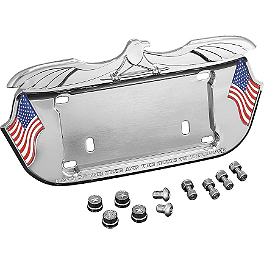 Kuryakyn License Plate Frame - Lone Eagle - Kuryakyn Offset Footpeg Mounts