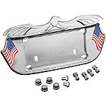 Kuryakyn License Plate Frame - Lone Eagle - Kuryakyn Cruiser Parts