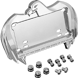 Kuryakyn Swept Eagle License Plate Frame - 1999 Harley Davidson Road Glide - FLTR Kuryakyn Plug-In Driver Backrest