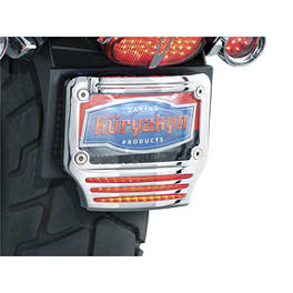 Kuryakyn LED License Plate Frame With Tri-Light - Kuryakyn Short Black Magnum Footpeg Mounts 1/2