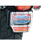 Kuryakyn LED License Plate Frame With Tri-Light - Kuryakyn Cruiser Parts