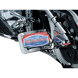 Kuryakyn Curved Horizontal Side Mount License Plate Holder - Kuryakyn Flag, Pole & Holder For Kuryakyn Luggage Racks