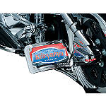 Kuryakyn Curved Horizontal Side Mount License Plate Holder - Kuryakyn Cruiser Products