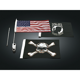 Kuryakyn Side Mount Flag Kit - 2006 Yamaha V Star 650 Custom - XVS65 Kuryakyn Footpeg Adapters - Front