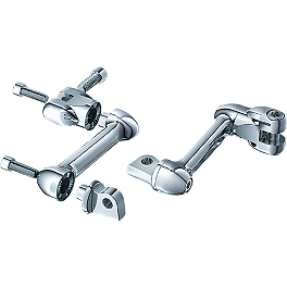 Kuryakyn Adjustable Lockable Peg Offsets - 1992 Yamaha Virago 1100 - XV1100 Kuryakyn Footpeg Adapters - Front