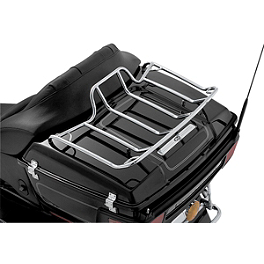 Kuryakyn Tour-Pak Luggage Rack - Kuryakyn Panacea LED Tail Light - Deluxe Smoke