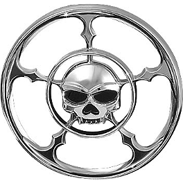 Kuryakyn Universal Zombie Medallion - 2005 Yamaha Road Star 1700 Warrior - XV17PC Kuryakyn Footpeg Adapters - Front