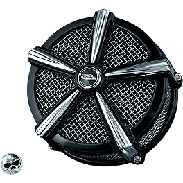 Kuryakyn Mach 2 Air Cleaner Kit - Black & Chrome - 1999 Harley Davidson Sportster Custom 1200 - XL1200C Kuryakyn Lever Set - Zombie