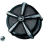 Kuryakyn Mach 2 Air Cleaner Kit - Black & Chrome - Kuryakyn Cruiser Parts