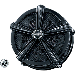 Kuryakyn Mach 2 Universal Air Cleaner Kit - Black - 2004 Harley Davidson Road King - FLHR Kuryakyn Custom Tie-Down Brackets - Silhouette