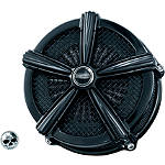 Kuryakyn Mach 2 Universal Air Cleaner Kit - Black - Kuryakyn Cruiser Fuel and Air