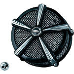 Kuryakyn Mach 2 Universal Air Cleaner Kit - Black & Chrome - Cruiser Air Cleaner Kits